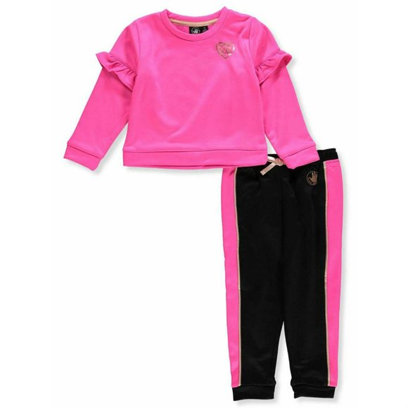 Body Glove Girls 3-Piece Athletic Jogger Pant Set with T-Shirt and Jacket